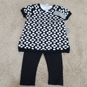 NWT! First Impressions Black Printed Two Piece